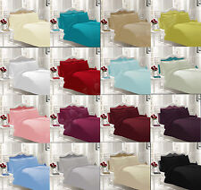 Fitted,Flat,valance Sheets Percale Quality Bed Sheets All Sizes 16 Colours