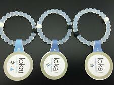 White Lokai Bracelet - Size S,M,L - Mud from Dead Sea Water from Mount Everest