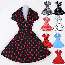 Vintage Retro Polka dot Swing 1950's 60's Housewife Pinup Rockabilly Dress PROM