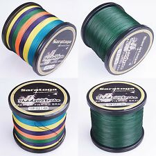 8Strands Multi-Color/Yellow/Moss Green PE Dyneema Braided Sea Fishing Line