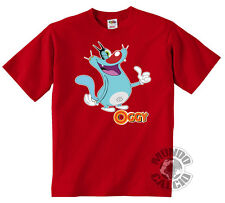 SHIRT OGGY AND THE COCKROACHES T-SHIRT JERSEY KID CHILD RED OK