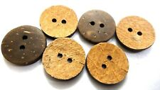"COCO- 2 Holes COCONUT SHELL BIG Button- Sewing Scrapbook- 22 mm (7/8th"")-Size 36"
