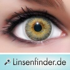 """Lenzera 3Tones Contact Lenses """"Light Grey"""" Colored Contacts + Free Case"""