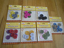 10pcs Super Quality Sewing Kit Assorted Colors sharpes Szies buttons Pink Gray