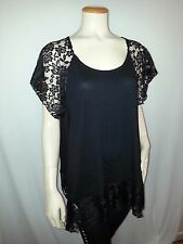 women's top with lace,2X 3X;4X