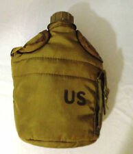 Combat Field Army Canteen Water Bottle Embossed U.S. Vintage 1978