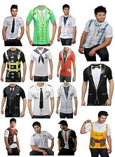 Adult Mens Printed T Shirts Uniform Costume Hen Night Stag Do Party Fancy Dress