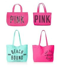 Victoria's Secret PINK Large Beach Tote Bag Spring Break Vacation NEW Pick One