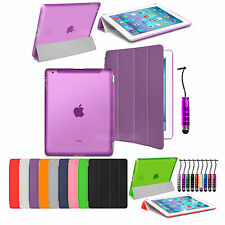 Ultra Thin Magnetic Leather Smart Cover Back Case For Apple iPad 2 iPad 3 iPad 4