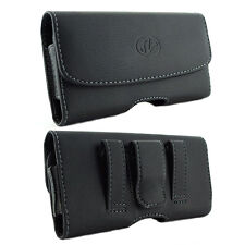 Leather Sideways Belt Clip Case Pouch Holster for Verizon Wireless Cell Phones