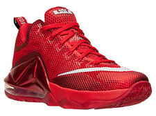 Nike 724557-616: LeBron XII 12 Low-top RED-All-Over Basketball Sneaker Adult MEN