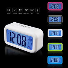 Led Digital Electronic Alarm Clock Backlight Time With Calendar+Thermometer EC