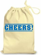 Personalised Thank You Gift Bag, Cotton Gift Bag Cheers! Wedding Favour Teacher