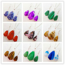 Beautiful Natural Gemstone Pendant Necklace & Earrings