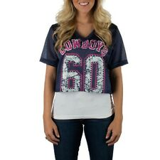 Dallas Cowboys Ladies Cropped Jersey NFL Officially Licensed Womens Apparel