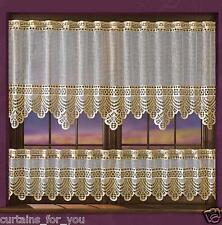 KITCHEN NET CURTAINS GOLD  SOLD BY THE METRE CHEAP PROFESSIONALLY FINISHED