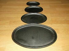 Cast Iron Oval Baking Tray Cast Iron Cookware Cooking Tray Oven 4 Sizes