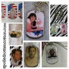 Personalized Photo Tag Key Chain or Necklace Keepsake