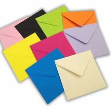 "5"" Square Coloured Envelopes for Cards - 15 Colours Available 130 x 130mm"