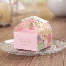 Wedding Favor Ribbon Candy Boxes Laser Cut  Wedding Party Favor Gift Box
