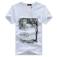 Fashion Mens Casual T-shirt Hip Hop Graphic Tee Cotton Blend Size S-5XL