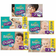 Pampers Cruisers Diapers Size 3, 4, 5, 6 CHEAP!!!