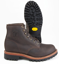 CHIPPEWA SORREL CRAZY HORSE BROWN LEATHER VIBRAM WORK BOOT MADE IN USA 25290