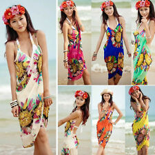 Women Fashion Summer Beach Dress Bikini Swimwear Cover Up Sarong Sexy Wrap Pareo