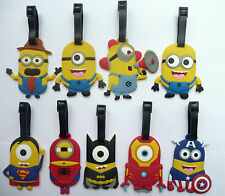 Luggage Labels Tags Despicable Me Minion Superhero Batman Spiderman Iron Man NEW