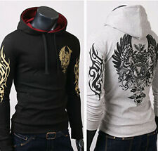 Mens Fashion Slim Fit Sexy Top Designed Hoodies Sweats Jackets Coats Shirts dad
