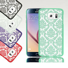 For Samsung Galaxy S6 Ultra Slim Hybrid Damask Rubber Hard Protective Case Cover