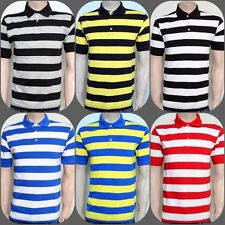 Stripe Polo T Shirt/Mens Polo Stripe Shirt/Stripe Cotton T Shirt
