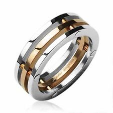 mens ladies Ring silver rosè gold 9 Sizes Stainless steel NEW JEWELRY