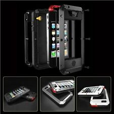 Aluminum Gorilla Glass Metal Cover Case for iPhone 4 4S Rain Water Shockproof