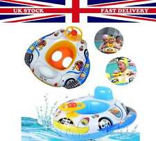 BabyKids ToddlerSwimming Pool SwimSeatFloat Boat Ring With Wheel  and Horn