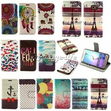 For Samsung Smart Phones classics Flip Stand PU Leather Wallet Pouch Case Cover
