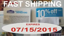 (Ten) Lowes 10% Off Coupons Home Purchase Blue Card Competitor Depot. 07/15/15