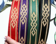 Celtic Woven Knot Fabric Trim 1 3/8 inch Wide by the yard