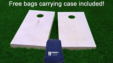 Finished & Non Painted Regulation Size Cornhole / Corn Hole Boards with bags DIY