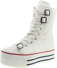 Maxstar C50 3-Belts Platform Sneakers Middle Boots 3 Colors