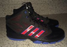 NEW Mens 11.5 ADIDAS Cross Em 2 Black Royal Blue Red Basketball Shoes Sneakers
