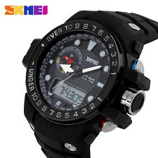 SKMEI Military Waterproof Digital Rubber Band Strap Mens Sports Wrist Watch Gift