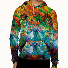 DMT magic mushroom psychedelic art Collection 4 Mens Hoodie jacket