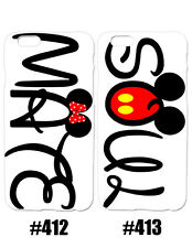 Disney Mickey Minnie Mouse Soul Mate Couples Pattern Case For iPhone Samsung LG