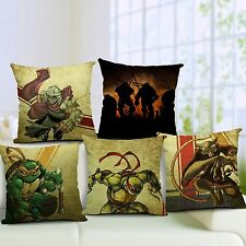 Cartoon Anime Printed Throw Pillow Case Slip Cotton Linen Sofa Cushion Cover Bed