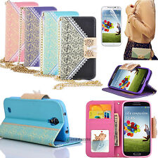 Folio Flip Wallet Card Slot Leather Case Cover Stand for SAMSUNG Galaxy S4 i9500
