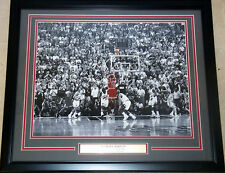 Chicago Bulls Michael Jordan Last Shot, 1998 NBA Finals Framed & Matted Photo