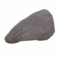 Mens Boys Herringbone Tweed Flat Cap Available in 2 Colours and 5 Sizes
