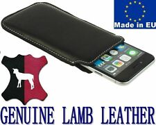 POCKET CASE PREMIUM GENUINE REAL LAMB LEATHER POUCH COVER - RANGE OF MODELS