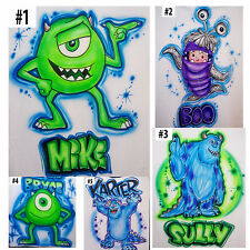 Airbrushed Custom T-shirt or Bodysuit Monster Inc Boo Sully and Mike